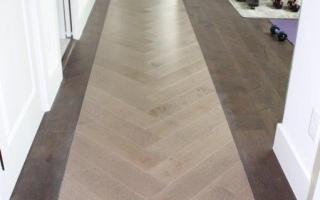 Mirage Engineered Wood Herringbone Installation