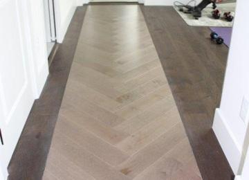 Mirage Engineered Wood Herringbone Installation