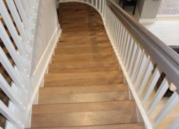 Mirage Engineered Wood installed in Pembroke pines on steps and herringbone pattern