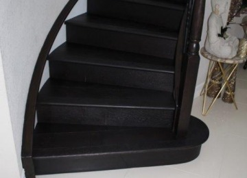 Parkay Engineered Wood on Steps, Mohawk SPC on 2nd level