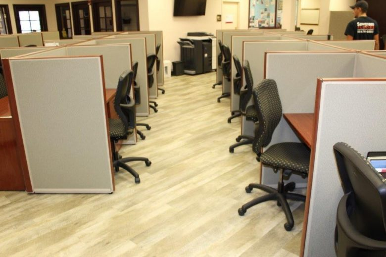 Commercial Flooring for the Keyes Company Cubicle Office