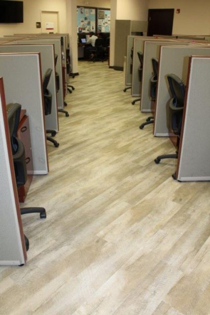 Commercial Flooring for the Keyes Company Office Cubicles